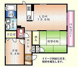 シャーメゾン高須台B棟[202号室]の間取り