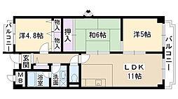 南山寿ガーデン[608号室]の間取り