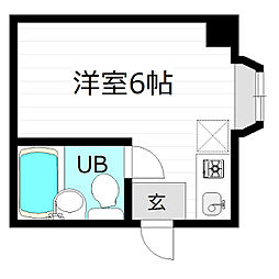 レアレア京橋19番館[2階]の間取り