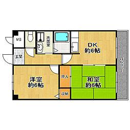 佃第一ローズマンション[4階]の間取り