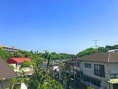 眺望写真静嘉堂緑地の緑が映える現地からの眺望