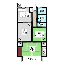 石井コーポ[2階]の間取り