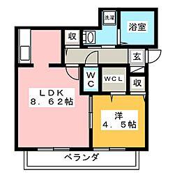 ドゥミュミュール[2階]の間取り