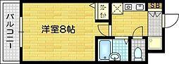 京都府京都市右京区西院西寿町の賃貸マンションの間取り