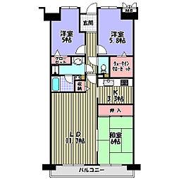 ローレルコート千代田[2階]の間取り