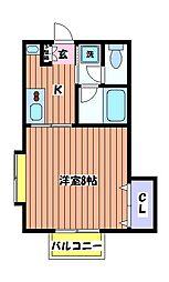 リバーハイツ M[2階]の間取り