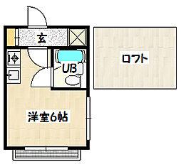 兵庫県神戸市兵庫区会下山町3丁目の賃貸マンションの間取り