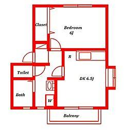 ヴェルテス五番館[2階]の間取り
