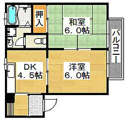 エステート大豆塚III[2階]の間取り