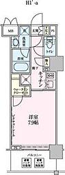 ロイジェントパークス赤坂[512号室]の間取り
