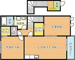 コンフォート八幡I[2階]の間取り