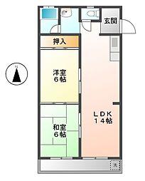 稲本ビル[5階]の間取り