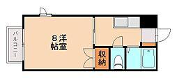 ソレイユ西片江[1階]の間取り