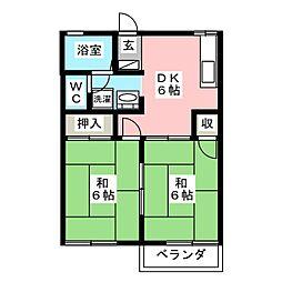 シャインハイツ5[1階]の間取り