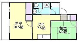 コーポ田加屋C棟[2階]の間取り
