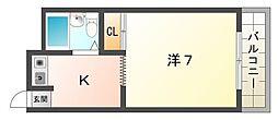 エリータ守口[3階]の間取り
