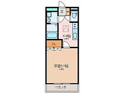 三重県松阪市中林町の賃貸アパートの間取り