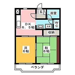 ベルク青葉[2階]の間取り
