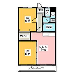 マンション センティア[2階]の間取り