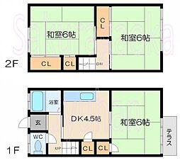 [テラスハウス] 東京都目黒区緑が丘3丁目 の賃貸【/】の間取り