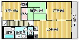 パークサイドマンション[302号室]の間取り
