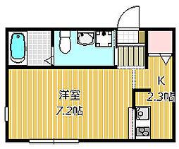 市川市福栄新築AP 1階1Kの間取り
