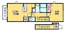 スカットワン[2階]の間取り