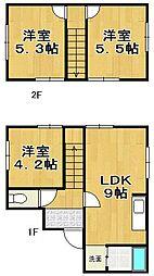 [一戸建] 福岡県福岡市東区社領1丁目 の賃貸【/】の間取り