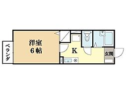 プリシェール華住[2階]の間取り