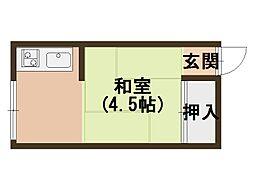 大阪府大阪市北区黒崎町の賃貸アパートの間取り