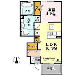 フィガレンス篠山[103号室号室]の間取り