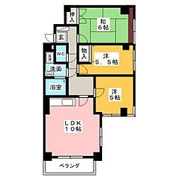 セゾン宮木[1階]の間取り