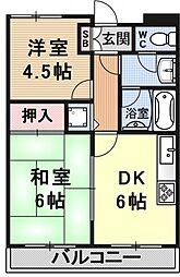 Espoir Takaya[205号室号室]の間取り