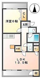 篤栄マンション[2階]の間取り