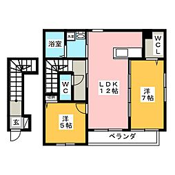 オセロコートA[2階]の間取り