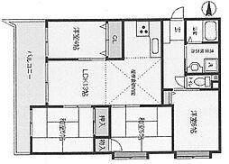 ライオンズマンション南武庫之荘[502号室]の間取り