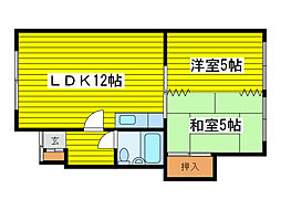 第9石井アパート[101号室]の間取り