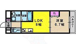 阪急京都本線 長岡天神駅 徒歩13分の賃貸マンション 1階1LDKの間取り