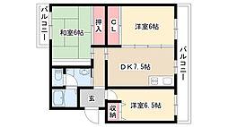 メゾン東栄B棟[301号室]の間取り