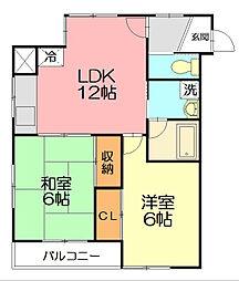マンション蔵[3階]の間取り
