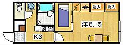レオパレスフォーチュネイト[2階]の間取り