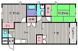 フィルコート東羽倉崎[1階]の間取り
