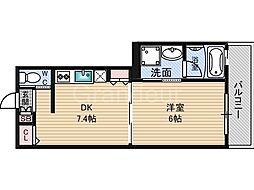 リシュ鶴見[7階]の間取り