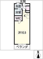 キャッスル常滑 西棟[3階]の間取り