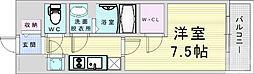 JR大阪環状線 野田駅 徒歩9分の賃貸マンション 11階1Kの間取り