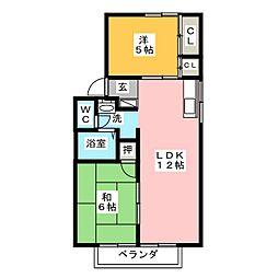 ファミール大福寺[2階]の間取り