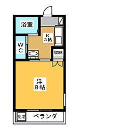 スカイヒルズマンション[2階]の間取り