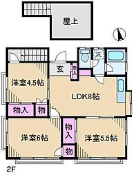 東京都足立区新田2丁目の賃貸アパートの間取り