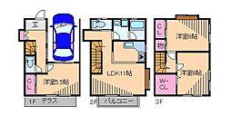 [一戸建] 神奈川県横浜市港北区新吉田東3丁目 の賃貸【/】の間取り