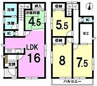 大容量WICあり。全居室、窓、収納あり。